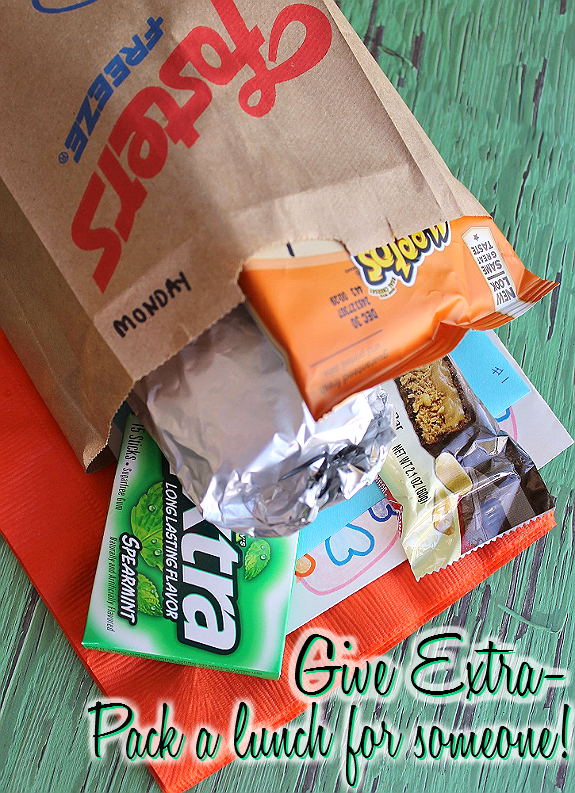 Create #ExtraGumMoments when you make a sack lunch for someone who has done extra. #Shop