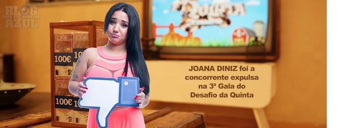 Joana Diniz foi a concorrente expulsa na 3ª Gala do Desafio - Resultados Oficiais vs Sondagens