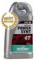 น้ำมันเครื่องมอเตอร์ไซค์ Motorex Power SYNT 4T 10W /60