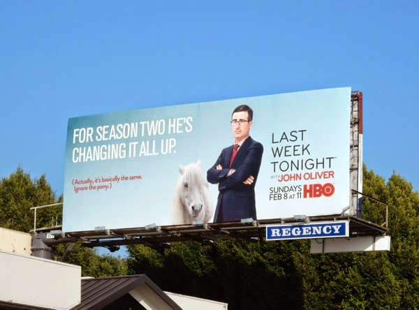 Last Week Tonight John Oliver season 2 pony billboard