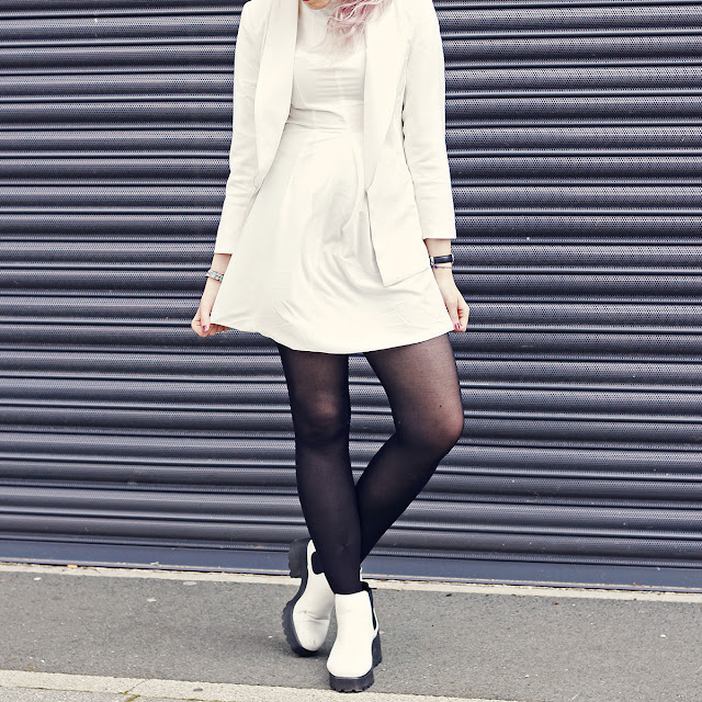 White Outfit by Blogger Stephi LaReine