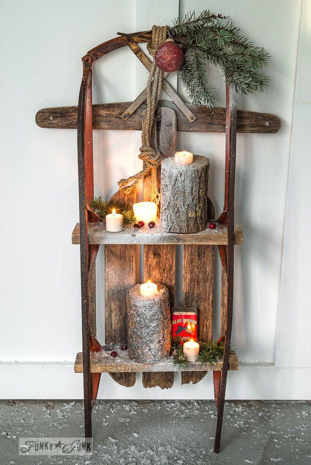 Inspiraci n retro trineos de madera decoraci n retro for Trineo madera decoracion