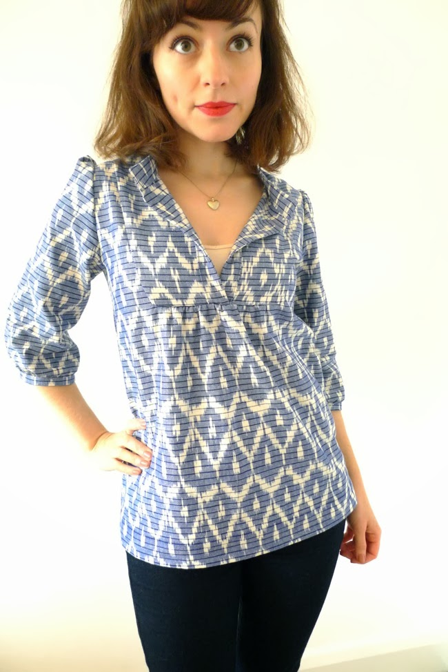 Tilly And The Buttons Ikat Tova Blouse