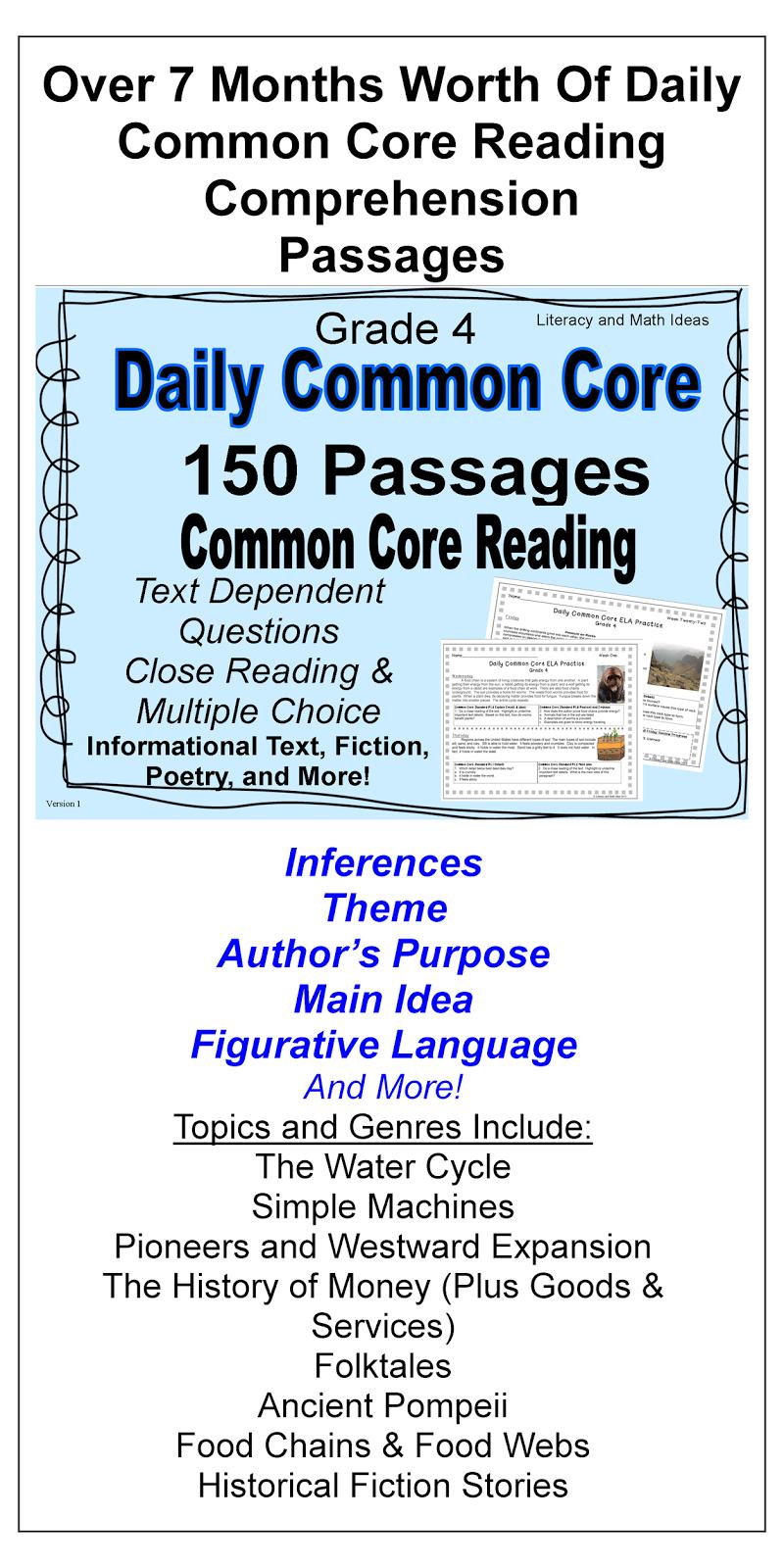 Common Core Worksheets 5th Grade Language Arts CCSS - mandegar.info