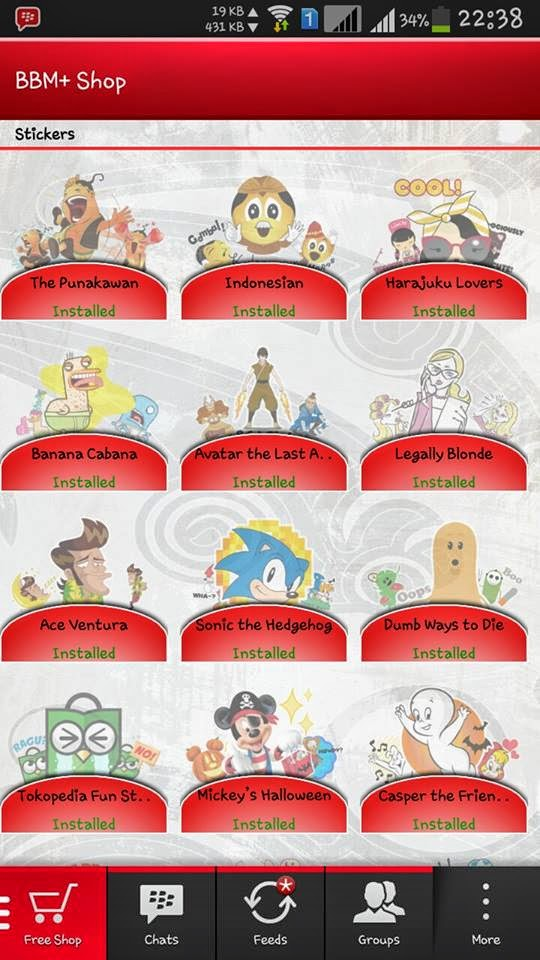 Download BBM+ Terbaru | Stiker Gratis!
