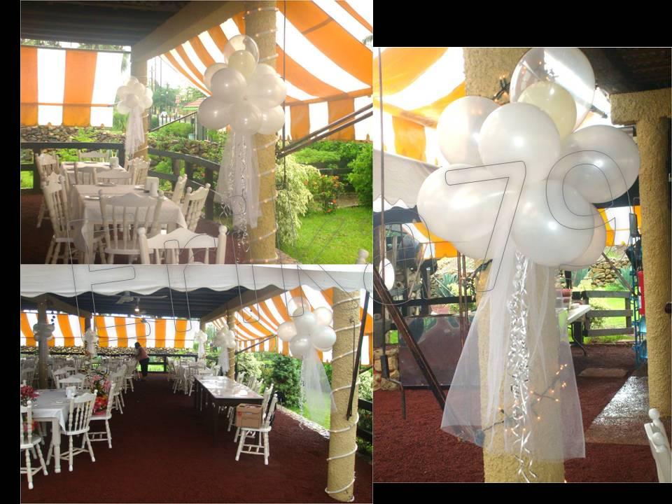 kikita-manualidades: decoración de boda con globos