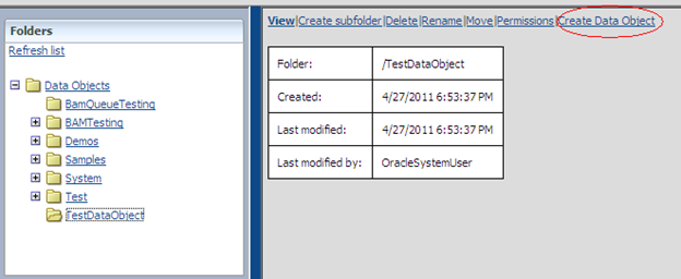 Create Data Object Link