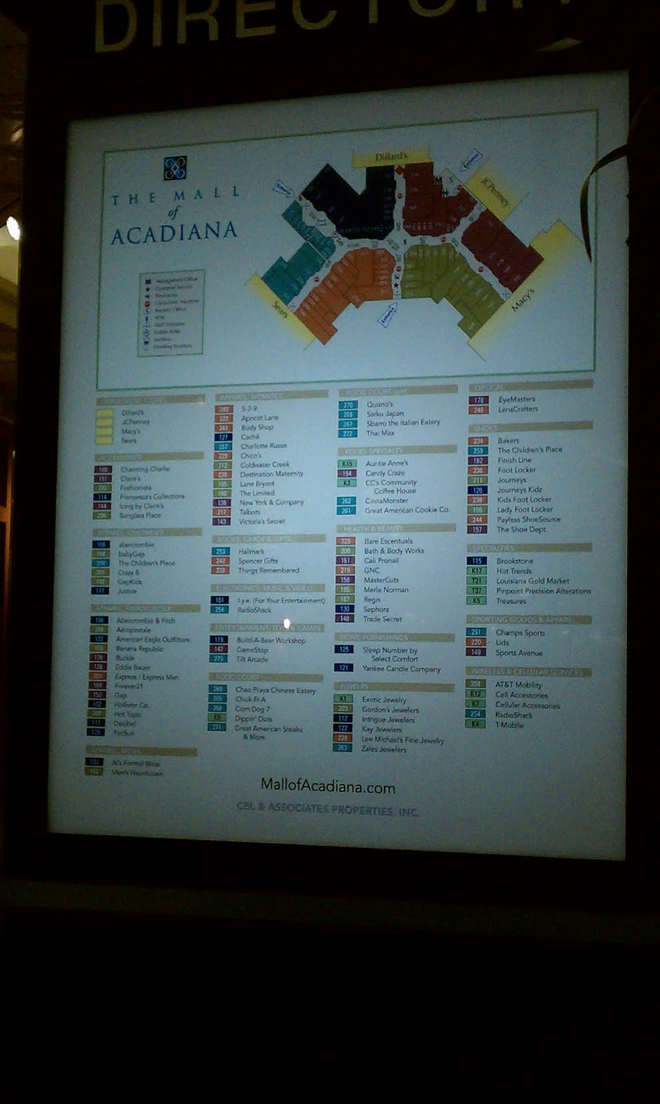 Louisiana and Texas Southern Malls and Retail: The Mall of Acadiana ...
