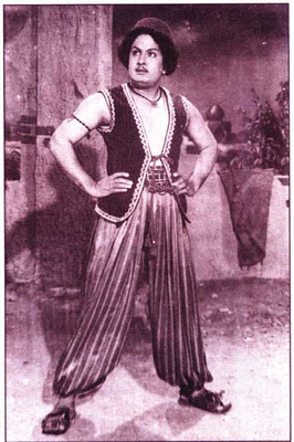 MGR in 'Alibabavum 40 Thirudargalum' Movie