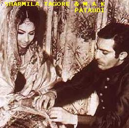 mansoor ali khan pataudi and sharmila wedding