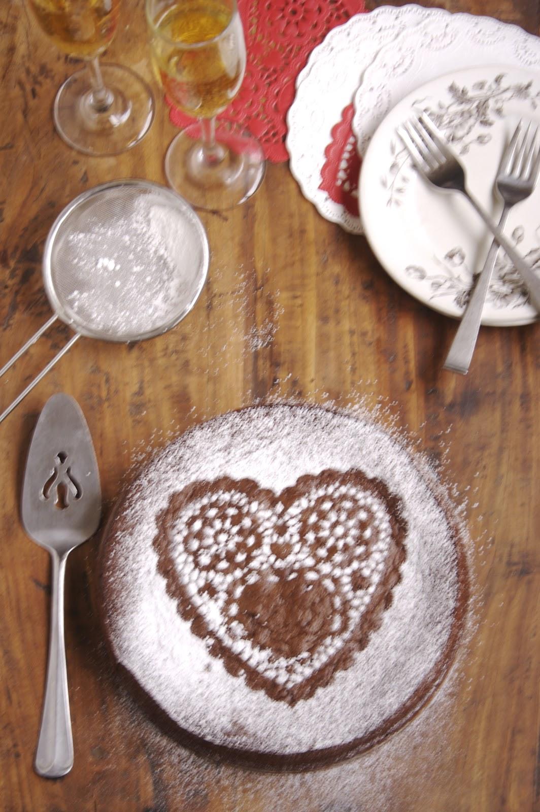 Flourless chocolate cake. A rich and fudgy dessert!
