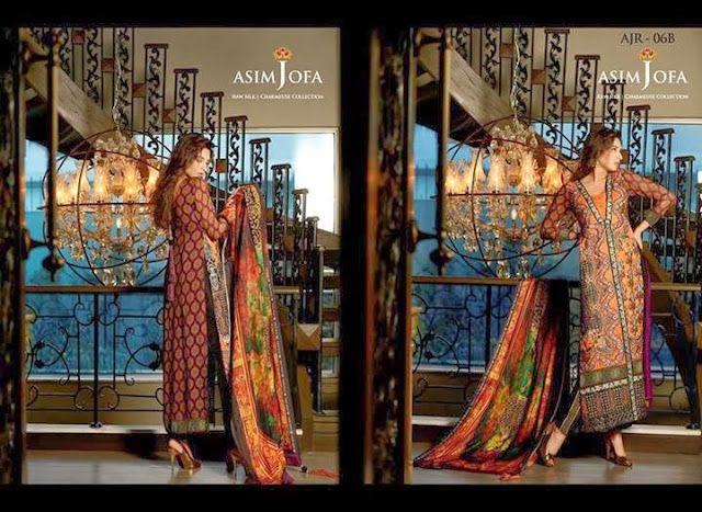 Asim Jofa Raw Silk Charmeuse Collection
