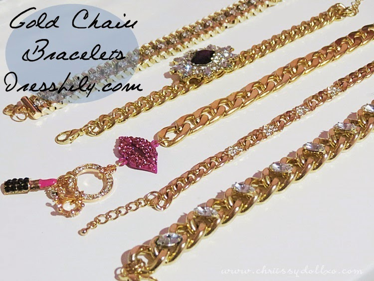 Latest Trends Fashionable Gold Chain Bracelets from DressLily.com