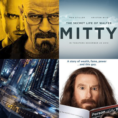 Monday Musings] Walter Mitty, Breaking Bad, and Larry David