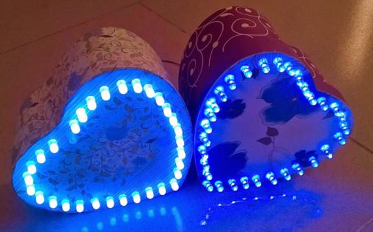 Mạch trái tim 32 LED hiệu ứng đẹp