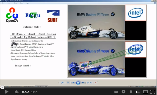 videos tutoriels  opencv tutorial  object detection and