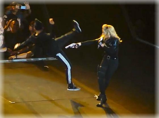 Madonna causa un tiroteo
