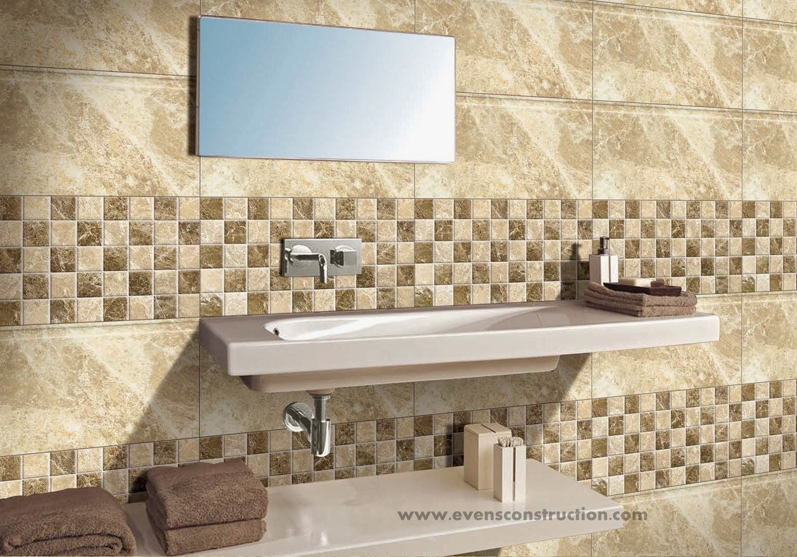 Evens construction pvt ltd bathroom tiles gallery Indian bathroom tiles design pictures