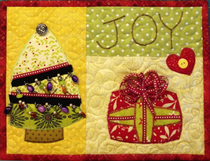 mug rug, denise clason, quilt, christmas tree
