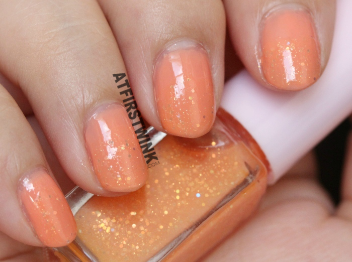 Etude House Juicy Cocktail gradation nails #1 Screw Driver nail polish 2 Sweet Orange