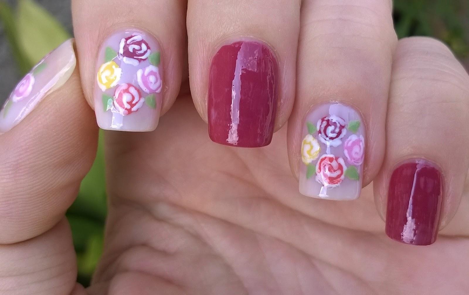Life World Women: Fall Flower Nail Art / Toothpick Nail Design