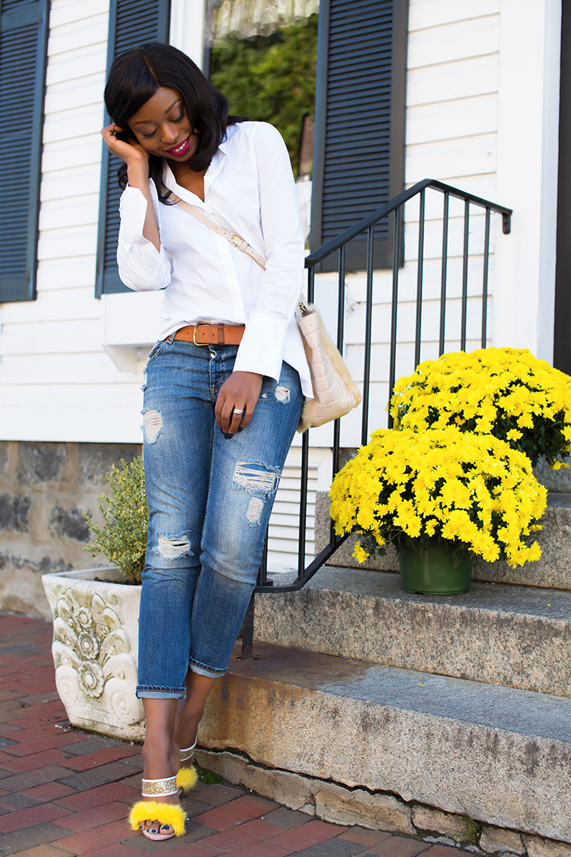 casual look, boyfriend jeans, sophoa webster shoes, Etienne Aigner bag