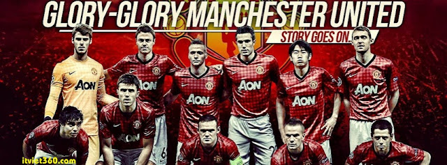 Ảnh bìa Facebook bóng đá - Cover FB Football timeline, Glory Glory manchester united MU
