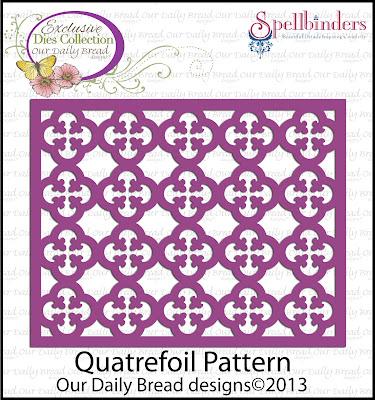 "ODBD Exlusive ""Quatrefoil Pattern"" Die"