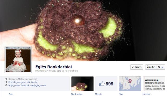Eglės rankdarbių Facebook'o profilis