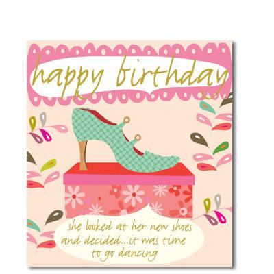 shoe birthday birthday age cards liz and pip ltd