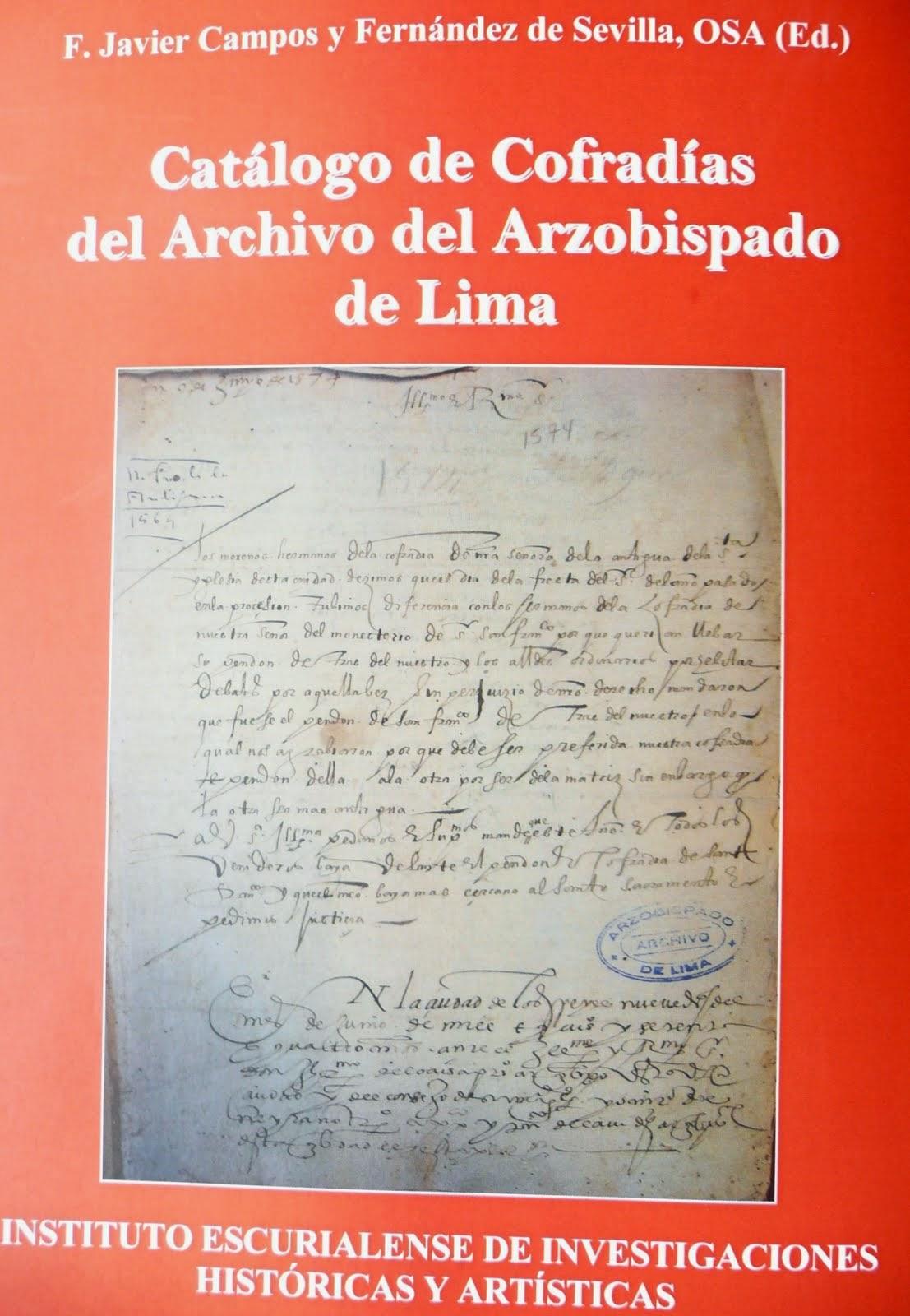 José Antonio Benito: Catálogo de Cofradías del Archivo del ...