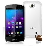 "Advan Vandroid S5A (512MB/4GB/3G) Black, White, layar 5"""