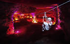 louisville underground caver with christmast lights