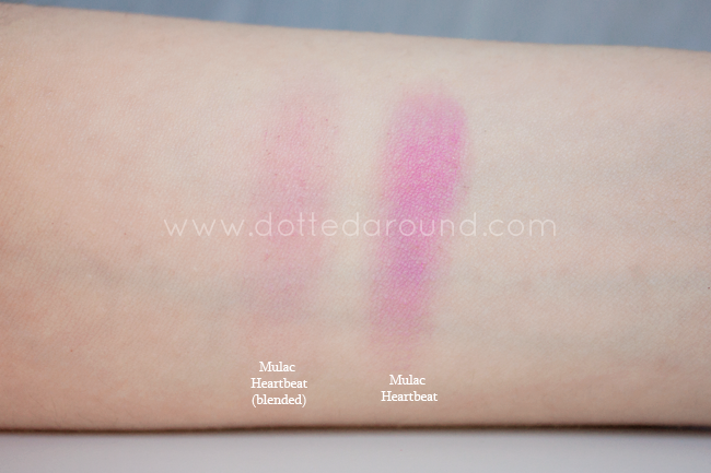 Mulac blush swatch heartbeat