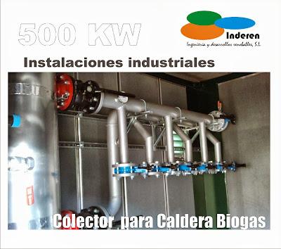 colector para caldera de biogas contenedor prefabricado
