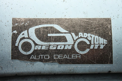 Oregon City Gladstone Auto Dealer sticker