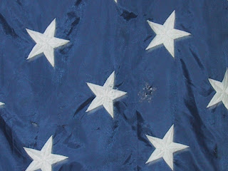 holes in canton, historic flag, art conservator, stabilization of september 11th flag for display at NYS Museum
