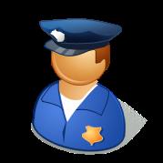 パワポマン(警官,お巡りさん,巡査,男性)