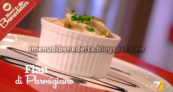 Flan di Parmigiano ai Funghi di Benedetta Parodi