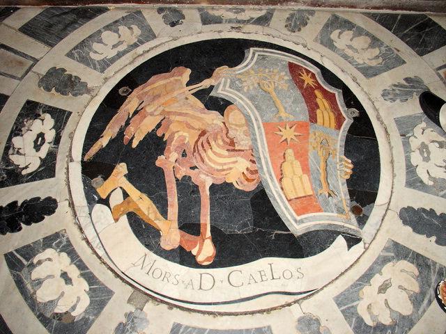 Ossuary Annex inside the Chigi Chapel in Santa Maria del Popolo