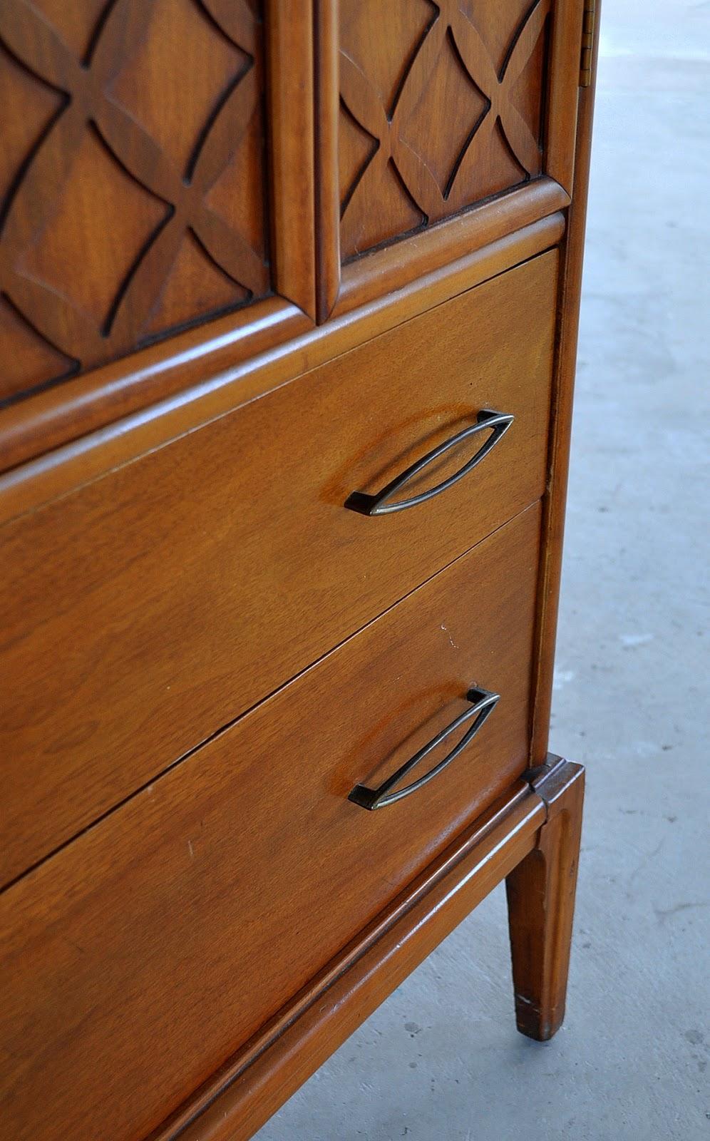 Select Modern Mid Century Modern Highboy Dresser
