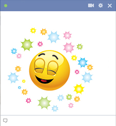 Good Vibes Facebook Emoticon