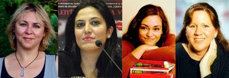 Megan Maxwell, Lena Valenti, Laura Gallego García y Marianne Curley, escritoras