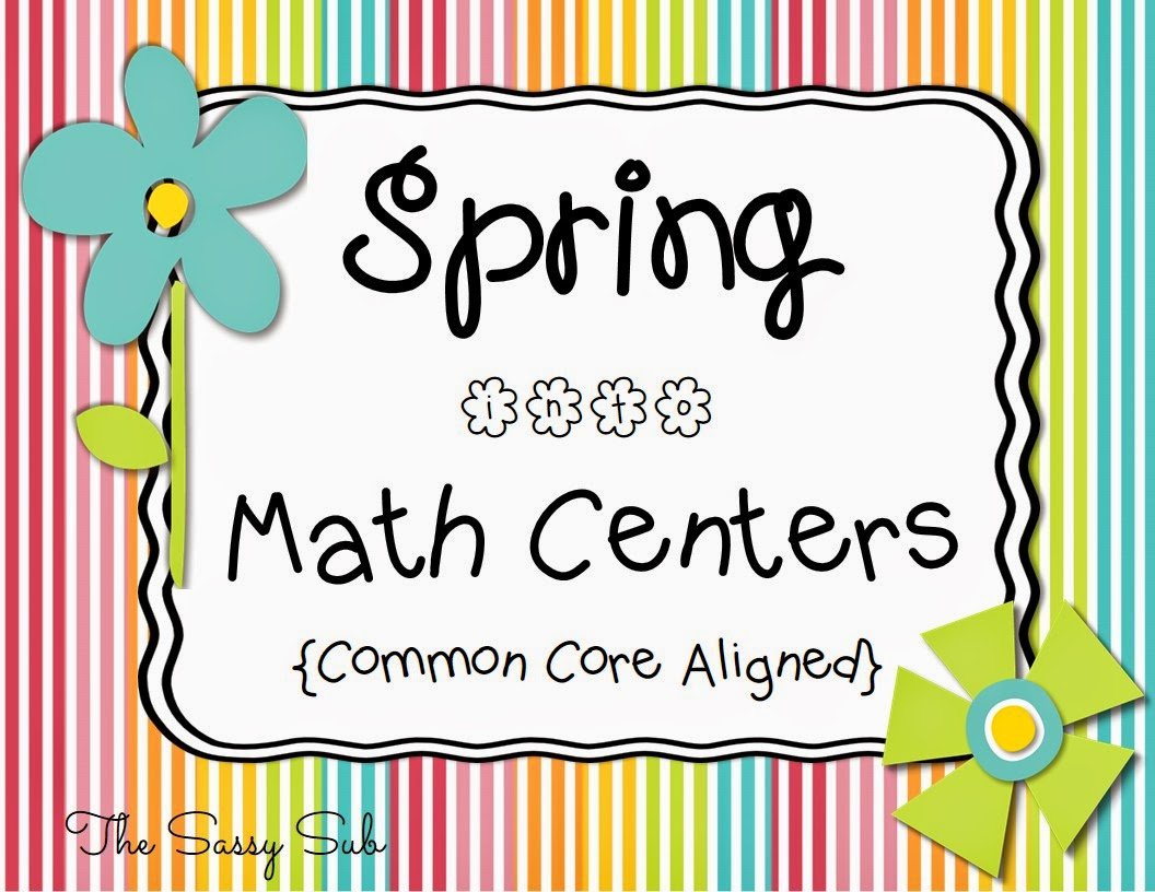 http://www.teacherspayteachers.com/Product/Spring-into-Math-Centers-Common-Core-Aligned-1167422
