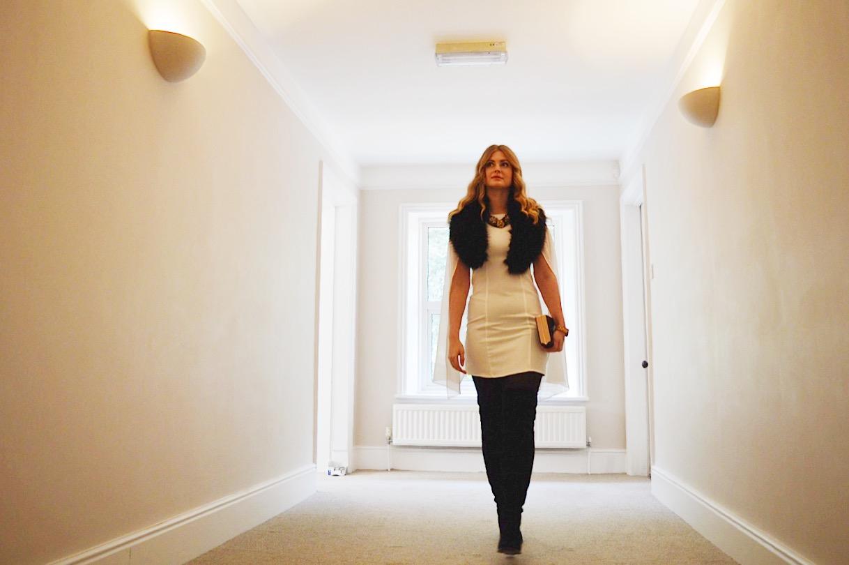 Luxemme cape dress, FashionFake, fashion bloggers