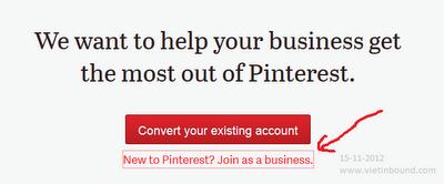 tạo tài khoản doanh nghiệp Pinterest