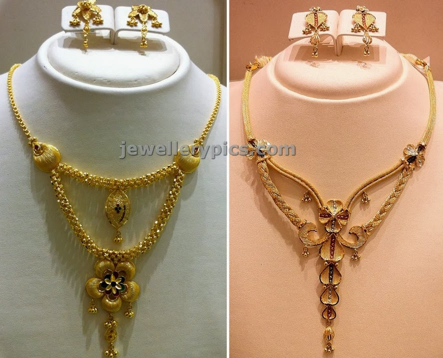 traditional gold weight nakshi necklace antique light