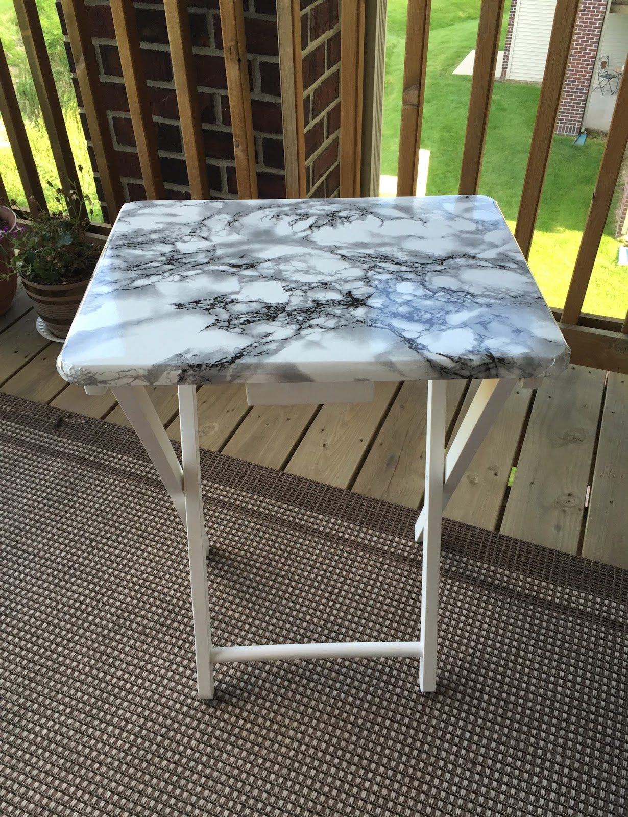 DIY marble table top