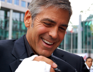 "Actor George Clooney in Toronto 2009 at the TIFF ""Men Who Stare at Goats"" premiere"