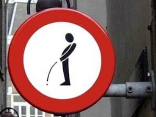 funny sign: forbidden to urinate